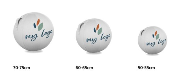 הדפסת משי של לוגו על כדור ישיבה 21 VLUV