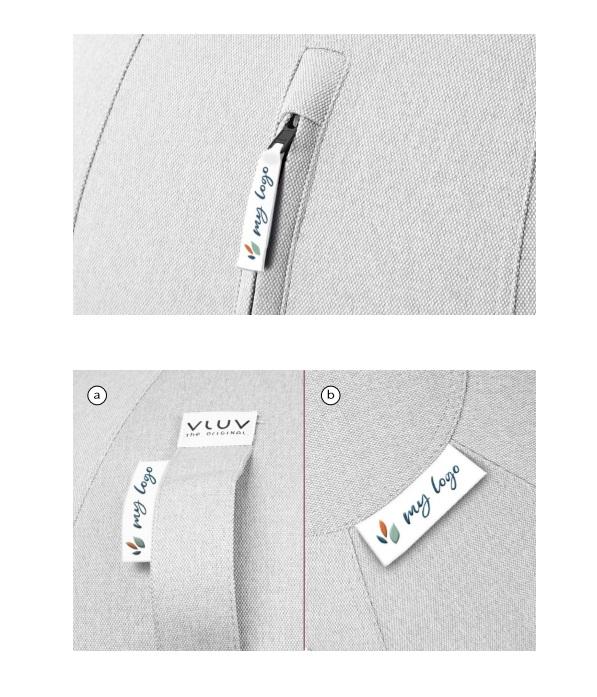 הדפסת משי של לוגו על כדור ישיבה 5 VLUV